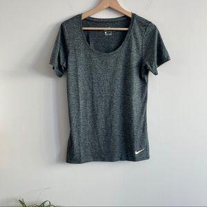 Nike - Short Sleeve Workout Shirt - Grey